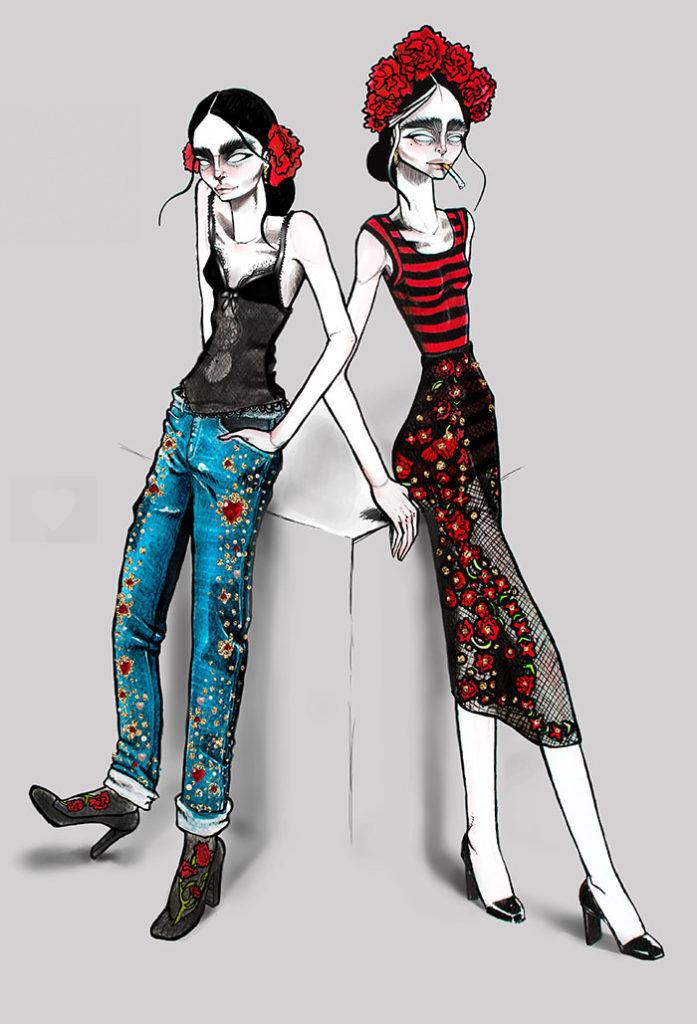 Illustracion de moda Colombia Renee Hernandez