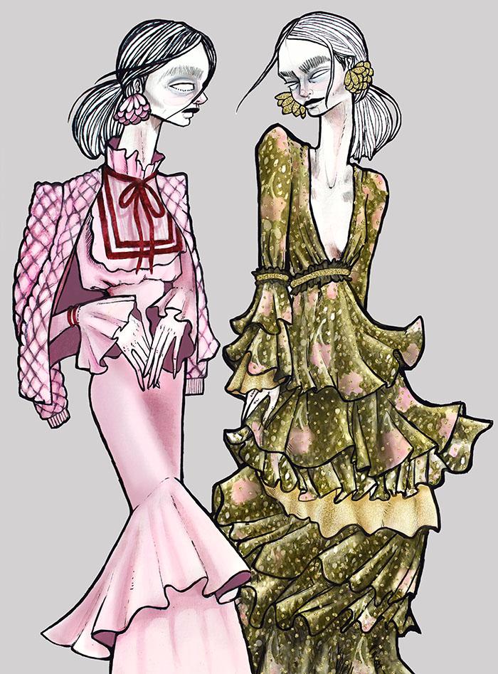 Illustracion de moda Colombia Renee Hernandez Renata Lozano