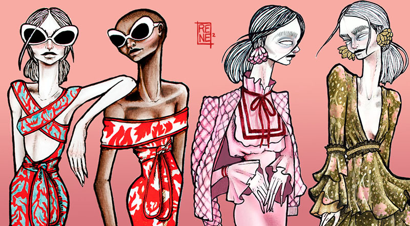 fashion illustration ilustracion de moda colombia renee hernandez