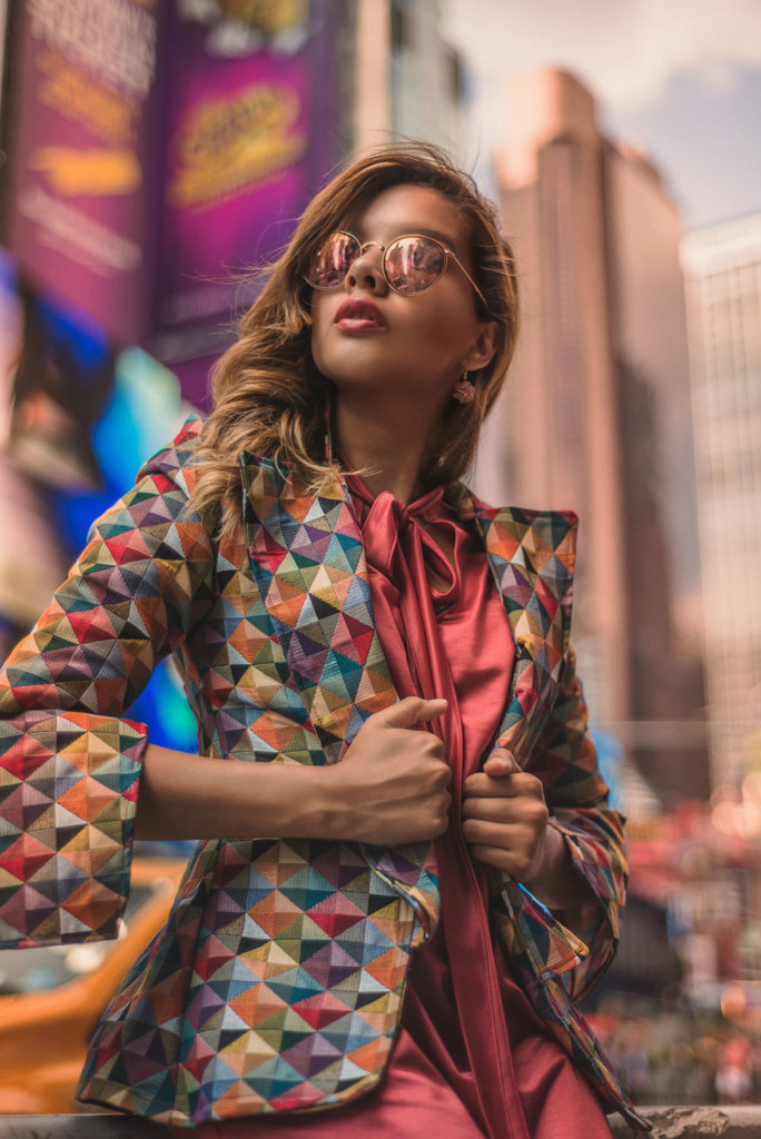 Portrait Photography in Time Square New York Travel