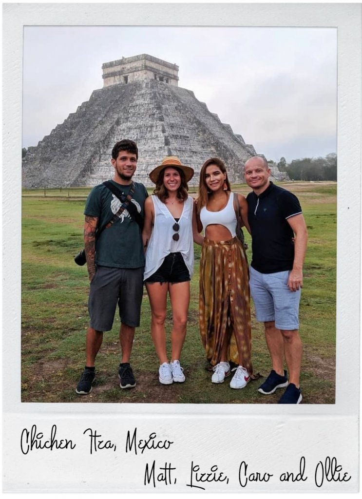 chichen itza group photo