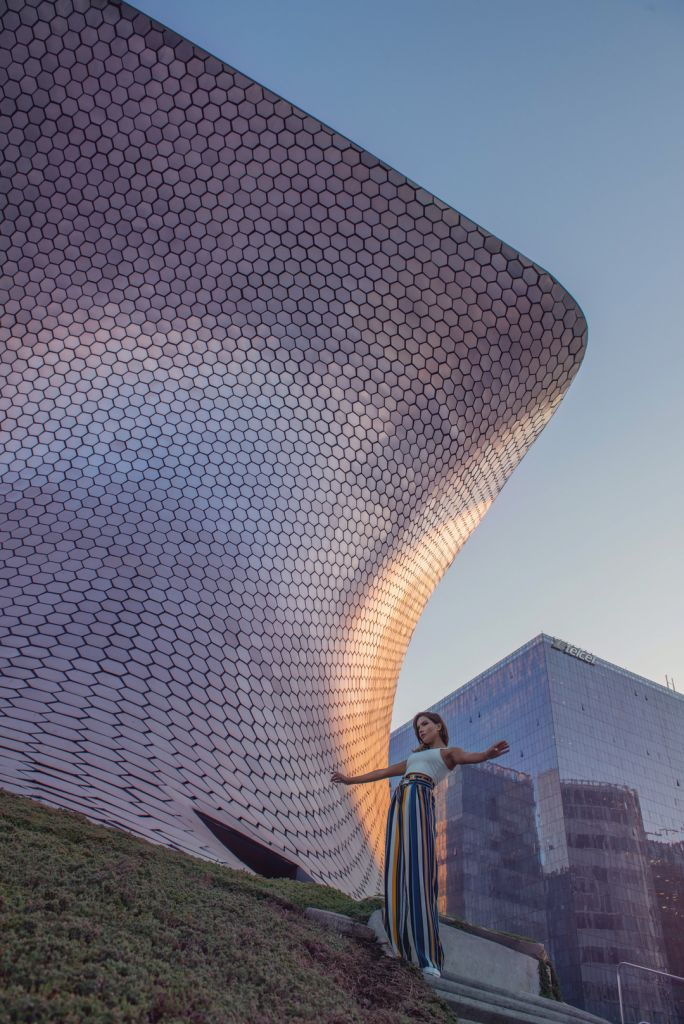 Girl at Soumaya Museum Mexico City Travel Photo Locations