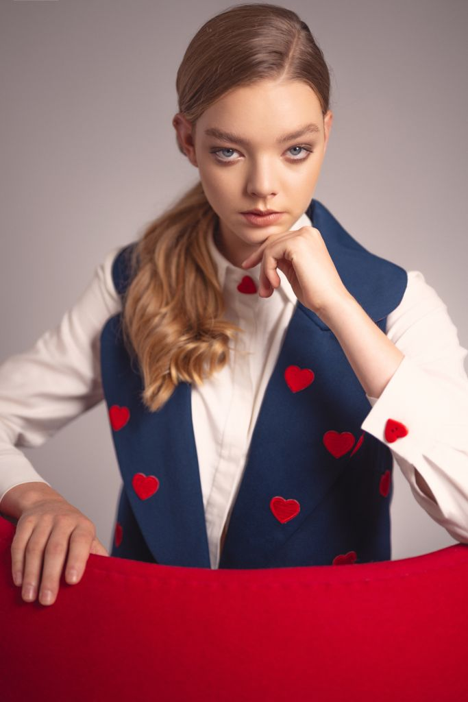 Fashion Editorial Red Love Hearts - Premier Models - Photographer London Ollie Lythe Styling Caroseditorial