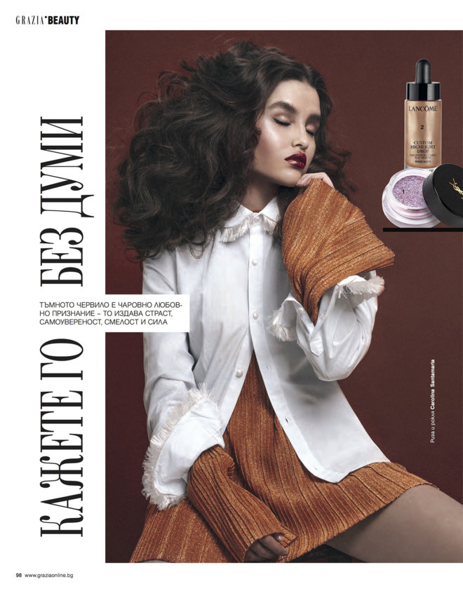 Print version of Beauty and Fashion Editorial