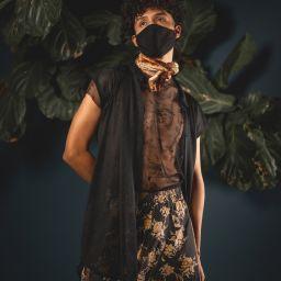Moody portrait of men's fashion style